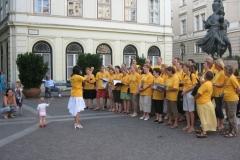 Szabadtéri fellépés a Szomory téren (2007.)