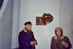 Dr. Bach Iván emléktáblájának megkoszorúzása