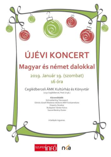 Újévi koncert Ceglédbercelen